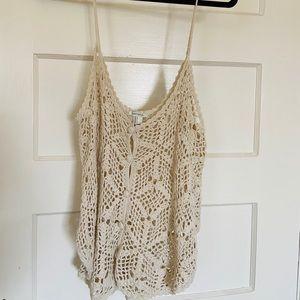 Crochet Tank, Size L